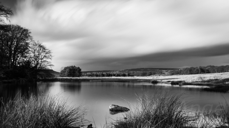 Passing Storm at Longshaw in Mono